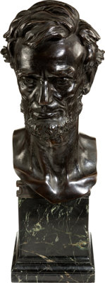 Abraham Lincoln: Exceptional Bronze Bust by Weinman