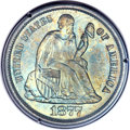 Seated Dimes, 1877-S 10C MS67 PCGS. CAC. Fortin-108....