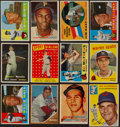 Baseball Cards:Lots, 1950's-1960's Baseball Stars and Hall of Famers Card Collection(12) With '57 Topps Mantle. ...