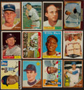 Baseball Cards:Lots, 1950's-1960's Baseball Stars and Hall of Famers Card Collection(12) With '61 Topps Mantle. ...