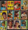 Baseball Cards:Lots, 1950's-1960's Baseball Stars and Hall of Famers Card Collection(12) With '59 Topps Mantle. ...