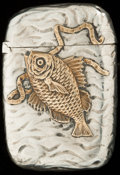 Silver Smalls:Match Safes, A GORHAM SILVER AND SILVER GILT MATCH SAFE, Providence, RhodeIsland, circa 1885. Marks: (lion-anchor-G), STERLING, 415...