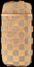 Silver Smalls:Match Safes, AN AMERICAN 14K GOLD MATCH SAFE, circa 1900. 2-5/8 inches high (6.7cm). 1.64 troy ounces. FROM THE ESTATE OF JOHN O. ANTO...