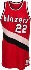 Basketball Collectibles:Uniforms, Mid 1980's Clyde Drexler Game Worn Rookie Era Portland TrailblazersJersey....