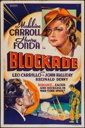 """Movie Posters:War, Blockade (United Artists, 1938). Other Company One Sheet (27"""" X41""""). War.. ..."""