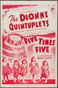 "Movie Posters:Documentary, Five Times Five (RKO-Pathé Distributing, 1939). One Sheet (27"" X 41""). Documentary.. ..."