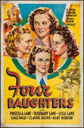 """Movie Posters:Romance, Four Daughters (Warner Brothers, 1938). Other Company One Sheet (27"""" X 41""""). Romance.. ..."""