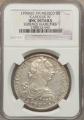 Mexico, Mexico: Charles IV 8 Reales 1790 Mo-FM UNC Details (SurfaceHairlines) NGC,...