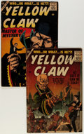 Silver Age (1956-1969):Mystery, The Yellow Claw #1 and 4 Group (Atlas, 1956-57).... (Total: 2 ComicBooks)