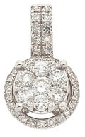 Estate Jewelry:Pendants and Lockets, Diamond, White Gold Pendant, Effy. ...