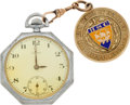 Baseball Collectibles:Others, 1921 Commerce High School Graduation Watch Fob Presented to LouGehrig....