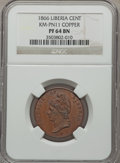 Liberia, Liberia: Republic Proof Pattern Cent in copper 1866 PR64 BrownNGC,...