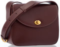 Luxury Accessories:Bags, Cartier Burgundy Leather Shoulder Bag. ...