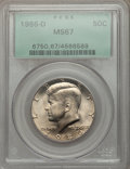 Kennedy Half Dollars: , 1986-D 50C MS67 PCGS. PCGS Population (109/4). NGC Census: (95/20). Mintage: 15,336,145. Numismedia Wsl. Price for problem ...