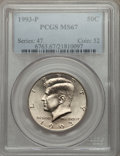Kennedy Half Dollars: , 1993-P 50C MS67 PCGS. PCGS Population (101/0). NGC Census: (185/3).Mintage: 15,510,000. Numismedia Wsl. Price for problem ...