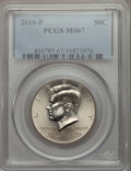 Kennedy Half Dollars, 2010-P 50C MS67 PCGS. PCGS Population (195/6). Numismedia Wsl.Price for problem free NGC/PCGS coin in ...