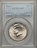 Kennedy Half Dollars, 2004-P 50C MS67 PCGS. PCGS Population (59/4). NGC Census: (86/5).Numismedia Wsl. Price for problem free NGC/PCGS coin in ...