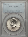 Kennedy Half Dollars, 2007-P 50C MS68 PCGS. PCGS Population (37/0). Numismedia Wsl. Pricefor problem free NGC/PCGS coin in M...