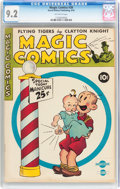 Golden Age (1938-1955):Miscellaneous, Magic Comics #38 (David McKay Publications, 1942) CGC NM- 9.2 Off-white pages....