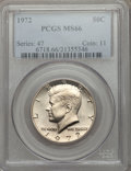 Kennedy Half Dollars: , 1972 50C MS66 PCGS. PCGS Population (143/12). NGC Census: (77/5).Mintage: 153,180,000. Numismedia Wsl. Price for problem f...