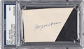 "Autographs:Others, Circa 1950 ""Shoeless Joe"" Jackson Signed Cut Signature, PSA/DNA NM7.. ..."