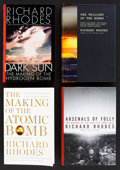 Books:Non-fiction, Richard Rhodes. INSCRIBED. Four Books: Dark Sun: The Making of the Hydrogen Bomb; The Making of the Atomic Bomb; Arsenals ...