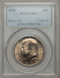 Kennedy Half Dollars: , 1979 50C MS67 PCGS. PCGS Population (46/1). NGC Census: (18/1).Mintage: 68,312,000. Numismedia Wsl. Price for problem free...