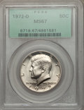 Kennedy Half Dollars: , 1972-D 50C MS67 PCGS. PCGS Population (82/0). NGC Census: (19/0).Mintage: 141,890,000. Numismedia Wsl. Price for problem f...