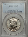 Kennedy Half Dollars: , 1989-D 50C MS67 PCGS. PCGS Population (69/1). NGC Census: (67/1).Mintage: 23,000,216. Numismedia Wsl. Price for problem fr...