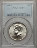 Kennedy Half Dollars: , 1998-D 50C MS67 PCGS. PCGS Population (73/2). NGC Census: (41/1).Mintage: 15,064,000. Numismedia Wsl. Price for problem fr...