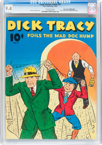 Large Feature Comic (Series I) #11 Dick Tracy - Mile High pedigree (Dell, 1940) CGC NM 9.4 Off-white pages