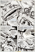 "Original Comic Art:Panel Pages, Jack Kirby and Mike Royer Black Panther #1 ""King Solomon'sFrog!"" Page 8 Original Art (Marvel, 1977)...."