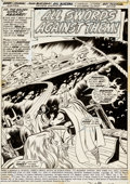 Original Comic Art:Splash Pages, John Buscema and Sal Buscema Thor #217 Splash Page 1Original Art (Marvel, 1973)....