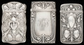 Silver Smalls:Match Safes, THREE GORHAM SILVER MATCH SAFES, Providence, Rhode Island, circa1900. Marks to all: (lion-anchor-G), STERLING, B2299; B25...(Total: 3 Items)
