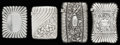 Silver Smalls:Match Safes, FOUR GORHAM SILVER MATCH SAFES, Providence, Rhode Island, circa1887-1889. Marks to smallest: (lion-anchor-G), STERLING, 6...(Total: 4 Items)