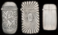 Silver Smalls:Match Safes, THREE GORHAM SILVER AND SILVER GILT MATCH SAFES, Providence, RhodeIsland, circa 1892-1899. Marks: (lion-anchor-G), STERLI...(Total: 3 Items)