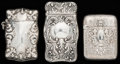 Silver Smalls:Match Safes, THREE GORHAM SILVER AND SILVER GILT MATCH SAFES, Providence, RhodeIsland, circa 1893-1900. Marks to all: (lion-anchor-G), ... (Total:3 Items)
