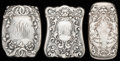 Silver Smalls:Match Safes, THREE GORHAM SILVER AND SILVER GILT MATCH SAFES, Providence, RhodeIsland, circa 1899-1900. Marks to all: (lion-anchor-G),...(Total: 3 Items)
