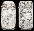 Silver Smalls:Match Safes, TWO GORHAM SILVER MATCH SAFES, Providence, Rhode Island, circa1899-1902. Marks to both: (lion-anchor-G), STERLING, B731M ...(Total: 2 Items)