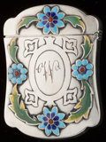 Silver Smalls:Match Safes, A GORHAM SILVER, SILVER GILT AND ENAMEL MATCH SAFE, Providence,Rhode Island, circa 1898. Marks: (lion-anchor-G),STERLING...