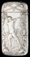 Silver Smalls:Match Safes, A GORHAM SILVER AND SILVER GILT MATCH SAFE, Providence, RhodeIsland, circa 1898. Marks: (lion-anchor-G), STERLING,B223...