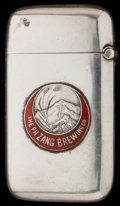 Silver Smalls:Match Safes, A GORHAM SILVER AND ENAMEL SPECIAL ORDER MATCH SAFE, Providence,Rhode Island, circa 1908. Marks: (lion-anchor-G), STERLIN...