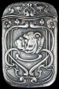 Silver Smalls:Match Safes, A GORHAM SILVER MATCH SAFE, Providence, Rhode Island, circa 1900.Marks: (lion-anchor-G), STERLING, B2203. 2-5/8 inches ...