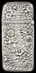 Silver Smalls:Match Safes, A SHIEBLER SILVER MATCH SAFE, New York, New York, circa 1900.Marks: (winged S), STERLING, 10. 2-5/8 inches high (6.7cm...
