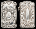 Silver Smalls:Match Safes, TWO BATTIN SILVER AND SILVER GILT HIDDEN PHOTO MATCH SAFES, Newark,New Jersey, circa 1900. Marks: (trident), STERLING, 18...(Total: 2 Items)