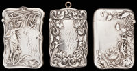 THREE BATTIN SILVER AND SILVER GILT MATCH SAFES, Newark, New Jersey, circa 1900 Marks to all: (trident), STERLI