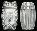 Silver Smalls:Match Safes, TWO BATTIN SILVER AND SILVER GILT MATCH SAFES, Newark, New Jersey,circa 1900. Marks to both: STERLING B, 155, PAT. MARCH ...(Total: 2 Items)