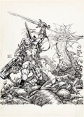 Original Comic Art:Covers, Barry Windsor-Smith StormWatch Unpublished Cover Original Art (Image, 1993)....