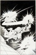 Original Comic Art:Covers, Kevin Nowlan New Mutants #51 Cover Original Art (Marvel,1987)....
