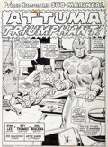 Original Comic Art:Splash Pages, Sal Buscema and Mike Esposito (as Joe Gaudioso) Sub-Mariner#31 Splash Page 1 Original Art (Marvel, 1970)....